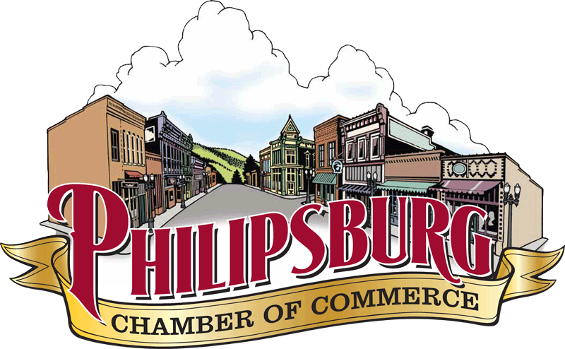 The logo for the Philipsburg Chamber of Commerce.
